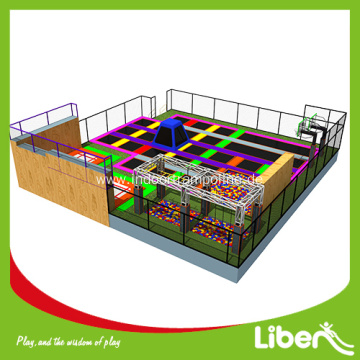 large indoor trampoline park for kids