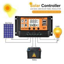 Solar Panel Charge Controller Regulator Collector 10A-100A 12V 24V Output Solar Panel Regulator Dual USB Display For LCD