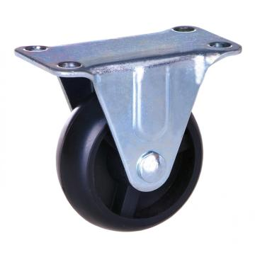 2 inch plate rigid caster with polypropylene wheels