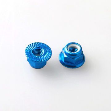 Hexagon large self lock serrated flange nuts