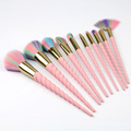 Warna Rambut Sintetis spiral handle Makeup Brush