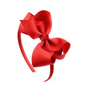 20 Color 4 Inch Girl Cute Headband Handmade Soild Bow Hairbands Grosgrain Ribbon Hair Bows Hair Bands Kids Hair Accessories