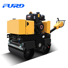 FYL-800 walk behind hydraulic steering double drum vibratory road roller price