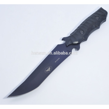 Black coating Steel Camping Army Knife