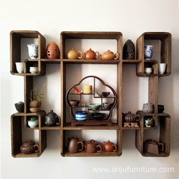 Cube Wall Mount Wooden Shelf wood wall mounted shelf