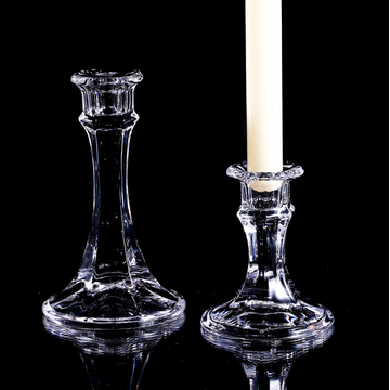 handmade glass candle holders