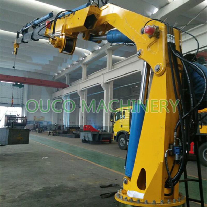China Haoyo Hydraulic Electric Knuckle Boom Mini Ship