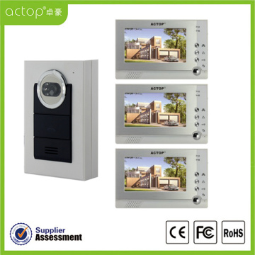 7 inch Night Vision Color Doorphone Video Intercom