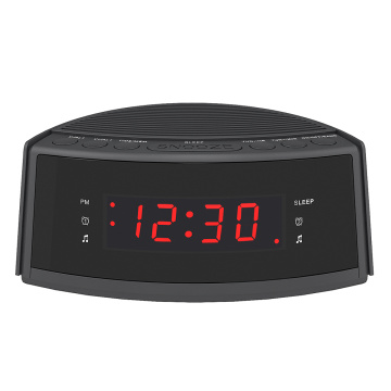 Venda quente Dual-Alarm Snooze Grande Display LED Rádio Digital Falando Despertador com Rádio FM