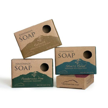 Custom Printing Kraft Paper Card Soap Box