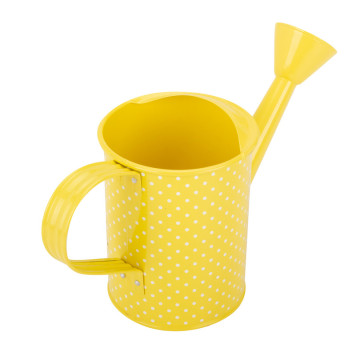 Yellow Metal Watering Can for Kids