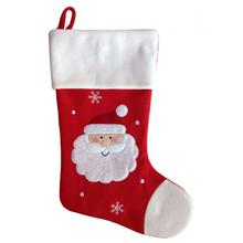 Classic red  plush christmas stockings gift