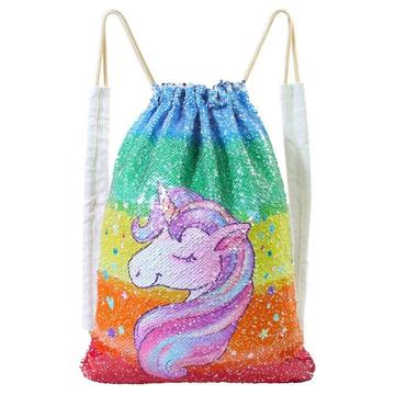 UNICORN SEQUIN DRAWSTRING BAG-0