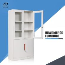 Commercial furniture steel glass door file cabinet
