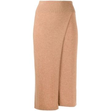 2020 Cashmere Midi Wrap Knitted Skirt