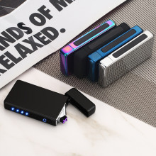зажигалка Plasma USB Touch-senstive Switch Lighter Cigarettes Electric Charging Rechargeable Flameless Lighter Screen Induction