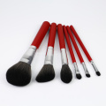 6piece warna merah Best Brush Sets untuk Makeup