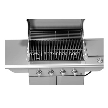 4 Infrared Burners with Side Burner Gas Grill