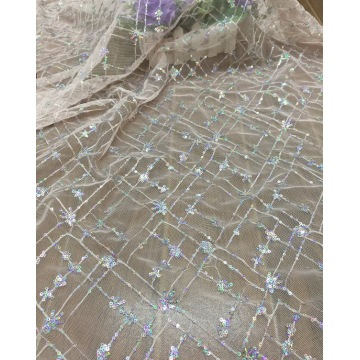 Mesh lace fabric embroidered fabric