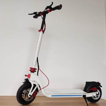 Custom Foldable White Deck Electric Scooter