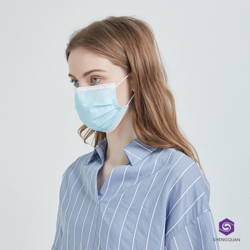 Hot Sale Disposable Non-woven 3 Ply Face Mask