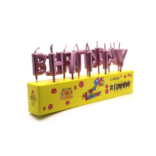 Metallic Happy Birthday Individual Party Letter Candle