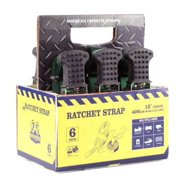 6 Pack 25MM Smart Ratchet Tie Down Strap