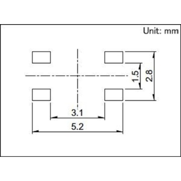 Surface Mount Switch with 5N Operating Force