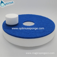 melamine floor sponge pad with blue scouring pad