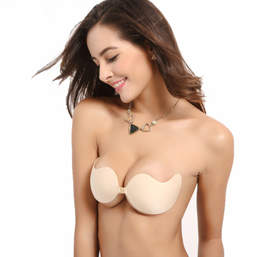 Invisible push up silicone bra for wedding dress