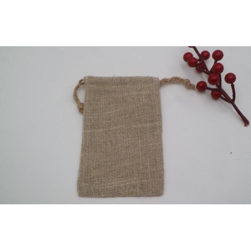 custom printed eco-friendly drawstring jute bags