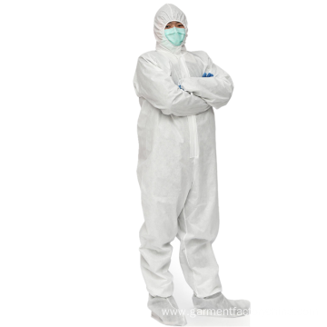 Disposable Coverall  TYPE 5-6 with Hood