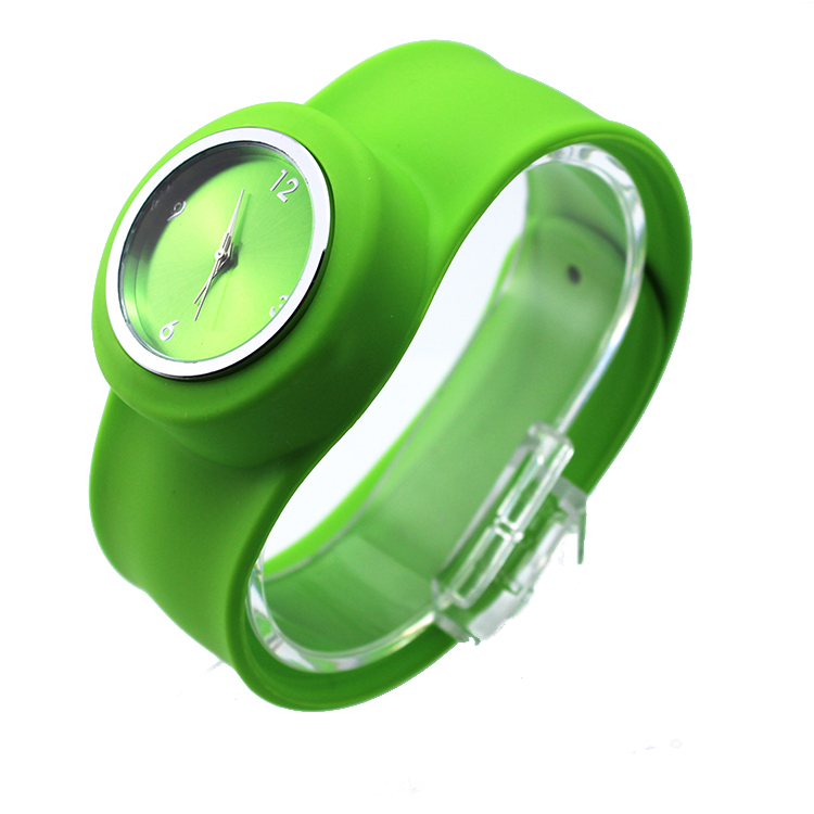 2013 hot sale silicon slap watch band