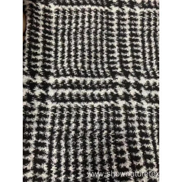 Big Check Cotton Polyester Jacquard Fabric