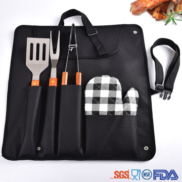 bbq tool set with glove
