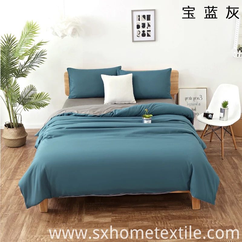 Brushed 4 Piece Solid Color Bed Top Sheet Set China