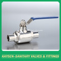 DIN/3A Sanitary manual weld direct-way ball valves
