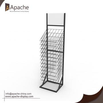 Portable Wire Wooden Board Display Stand