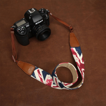 cam-in 7157 7158 Jean Cow Leather Universal Camera Strap Neck Shoulder Carrying Cotton Cloth General Adjustable Belt 39mm Width
