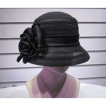 Wide Sinamay Cloche Hats
