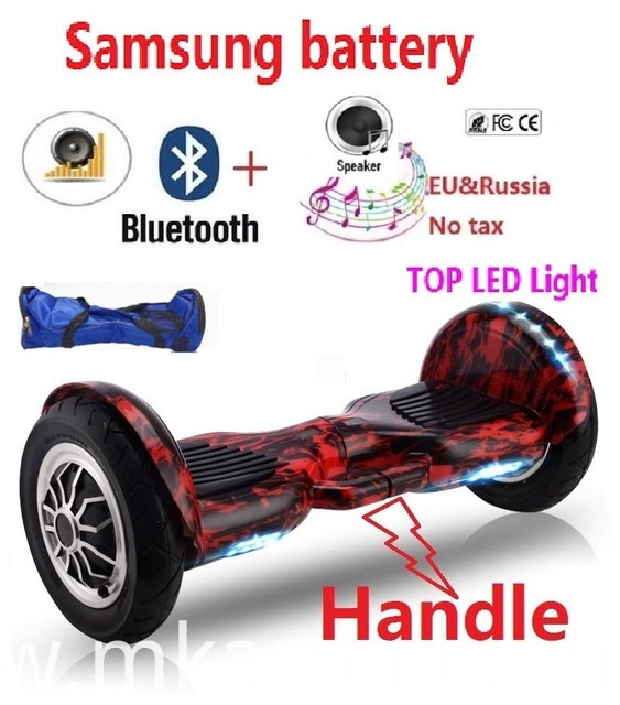 Hoverboards with Bluetooth and LED Lights Big Wheel Skateboard