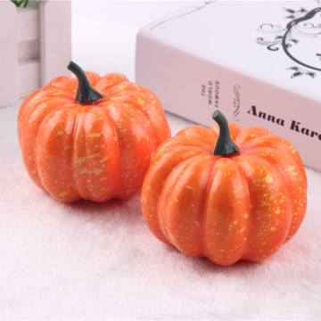 Big Realistic Fall Mini Artificial Pumpkins Foam Pumpkins 8.5cm Small Pumpkins Fake Foam Halloween Decorative Pumpkins