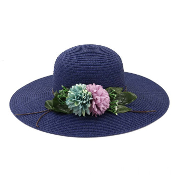 Hot sale blank straw hat foldable summer hat