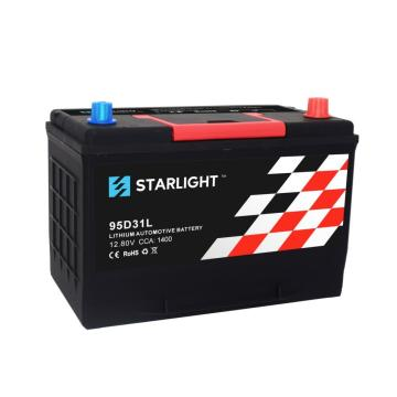 12.8V 95D31L LiFePO4 Automobile Lithium ion Battery