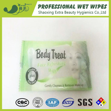 Personal Care Wet Tissues In Single Pack Cleaning
