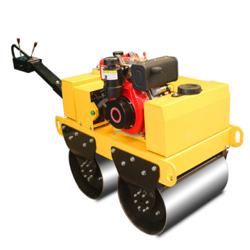 Walking behind diesel double steel wheel road roller