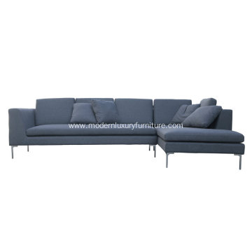 L-Shape B&B Italia Fabric Sectional Sofa Charles