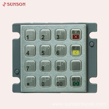 Metalic Encryption PIN pad for  Payment Kiosk