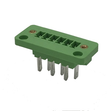 Green through wall male electric plug-in terminal block