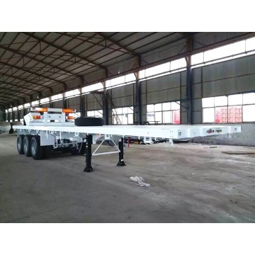 Kontainer Membawa Flat Bed Semi Trailer Truck